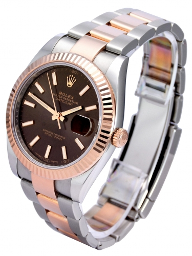 Side view of Rolex Datejust II 126331