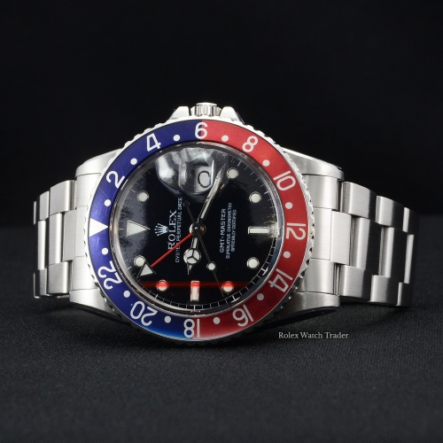 Rolex GMT-Master 16750 Aged Pepsi SERVICED BY ROLEX