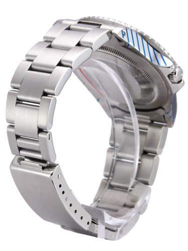 Bracelet clasp view image of a beautifully aged vintage Rolex GMT-Master 16750 Pepsi
