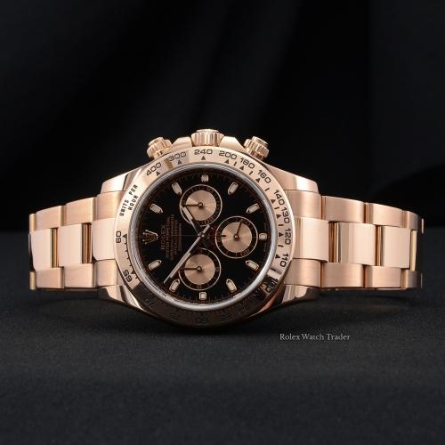 Rolex Daytona 116505 UK 2017 Rose Gold Black Dial
