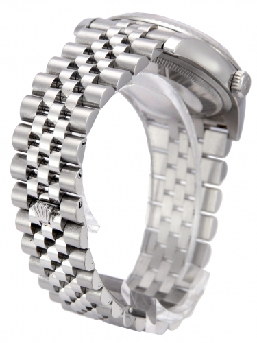 Back (bracelet) view of a stainless steel Rolex Datejust 116234