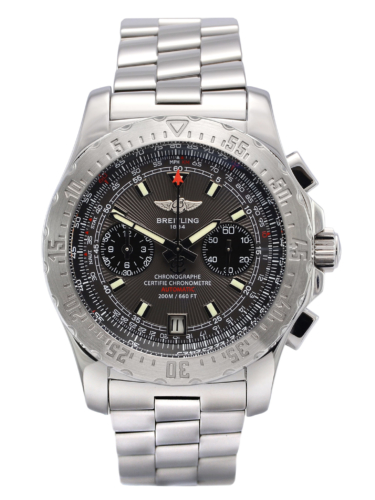 Front view image of a second hand, stainless steel Breitling Skyracer Grey A2736223/F532, complete with box & papers