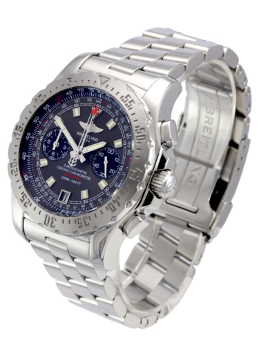 Side view image of a second hand, stainless steel Breitling Skyracer Grey A2736223/F532, complete with box & papers