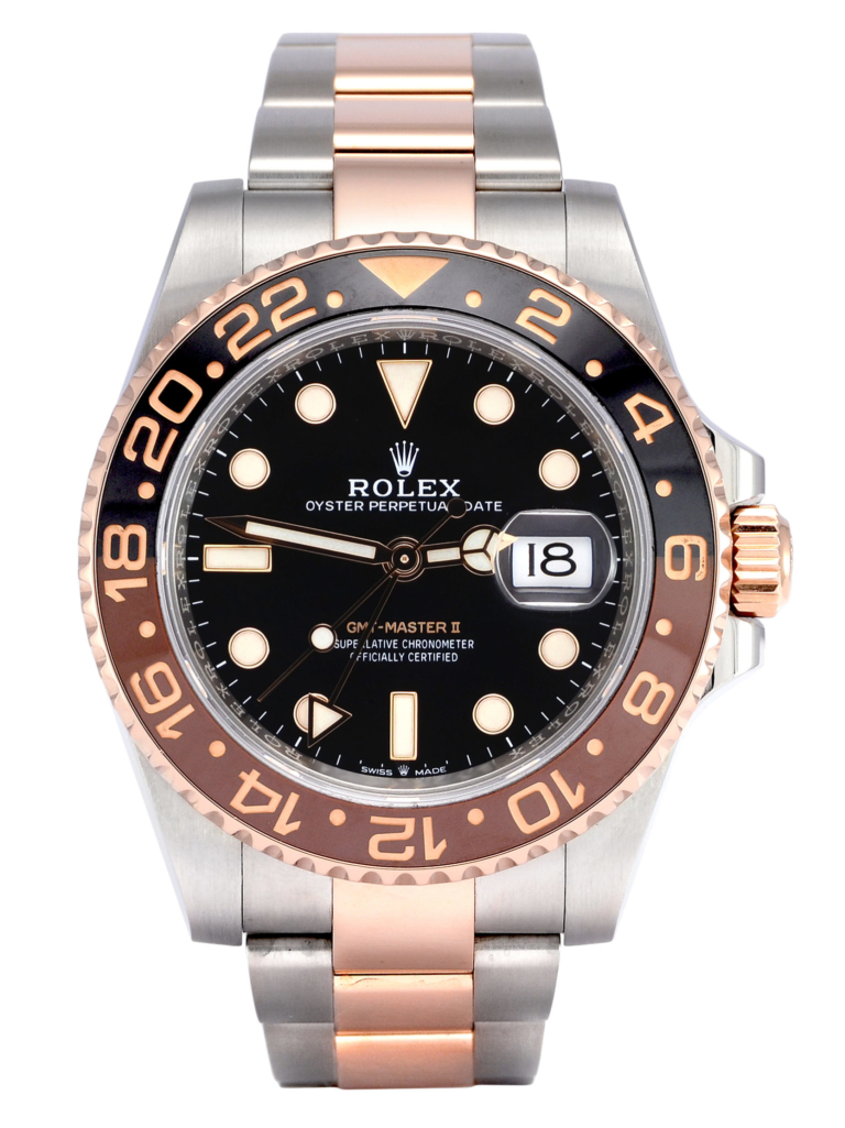 "Image of a second hand Rolex GMT-Master II 126711CHNR ""Root Beer""/""Rootbeer"" in bimetal stainless steel & everose gold, first new in 2018 in the UK"