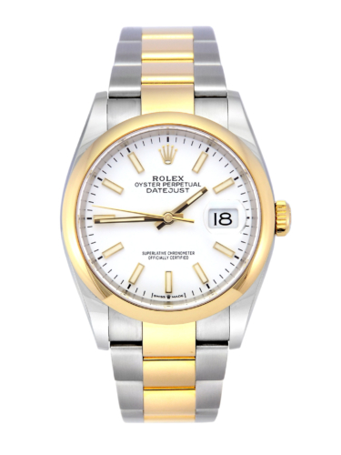 Rolex Datejust 126203 36mm Bi-Metal Smooth Bezel