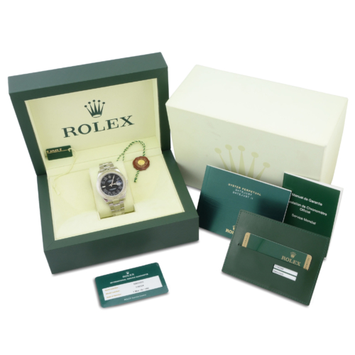 Box and papers included with the Rolex Datejust II 116334