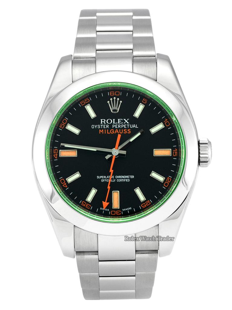 Rolex Milgauss 116400GV Black Dial Green Glass