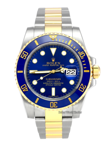 Rolex Submariner Date 116613LB SERVICED BY ROLEX Bi-Metal Blue