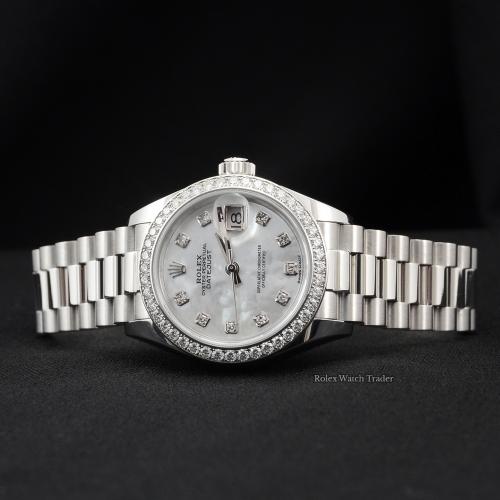 Rolex Lady-Datejust 279136RBR 28mm Platinum MOP Rolex Gem Set