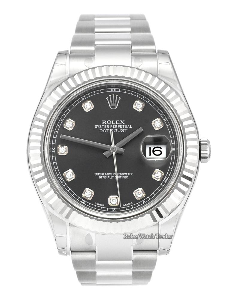 Rolex Datejust II 116334 Rhodium Diamond Dot NOS Stickers