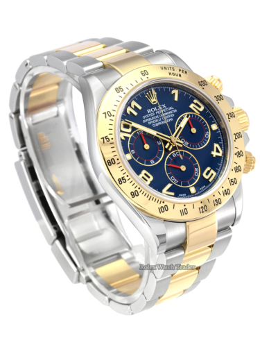 Rolex Daytona 116523 RARE Blue Arabic Dial with Red Detail