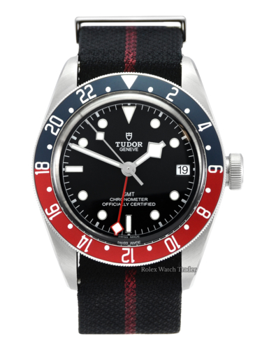 Tudor Black Bay GMT 79830RB Pepsi Black Textile Strap