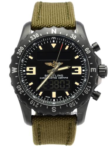Breitling Chronospace Military M7836622/BD39 Green Khaki Strap Black Stainless Steel