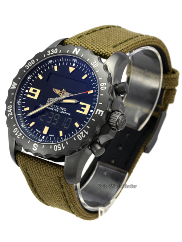 Breitling Chronospace Military M7836622/BD39 Green Khaki Strap Black Stainless Steel