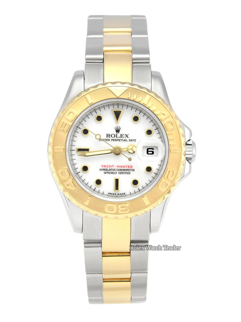 Rolex Yacht-Master 169623 29mm Ladies' Bimetal White Dial