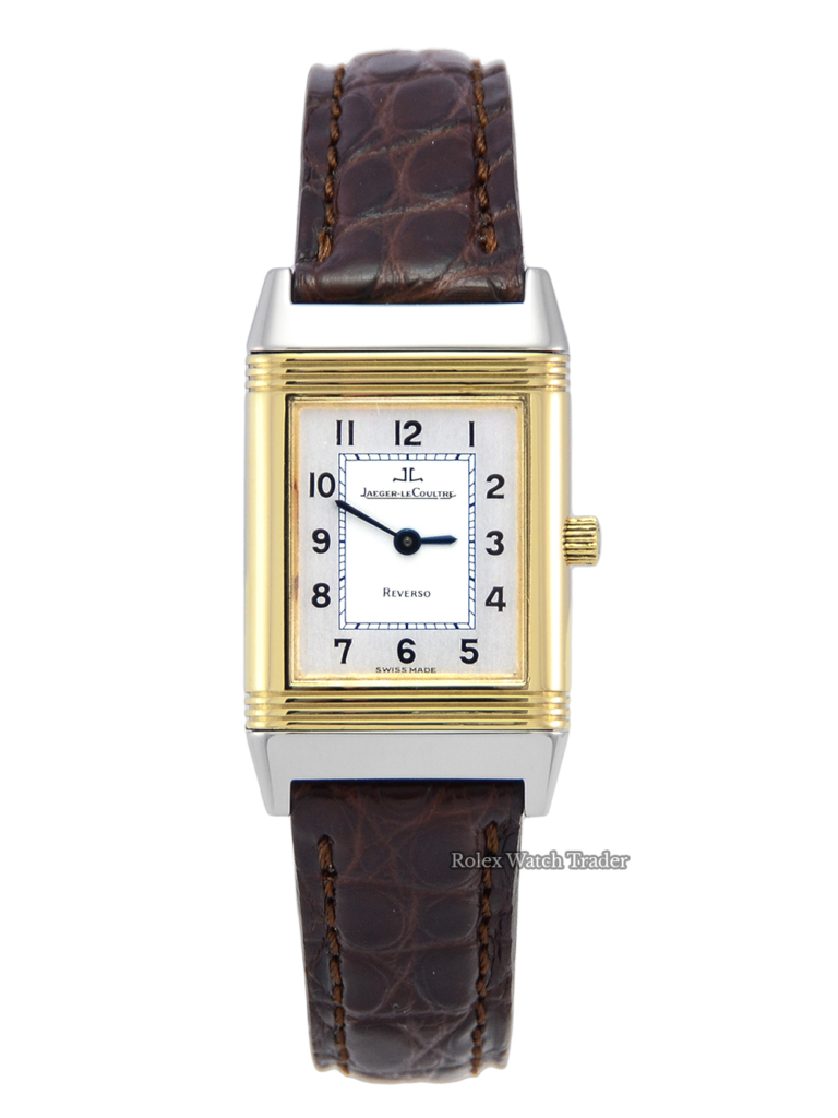 Jaeger-LeCoultre Reverso 260.5.86 Silver & White Dial Steel Gold