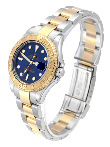 Rolex Yacht-Master 168623 Bimetal Blue Dial 35mm Box & Papers