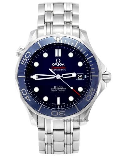 Omega Seamaster Diver 300m Extra Strap UK 2018 Complete Set 212.30.41.20.03.001