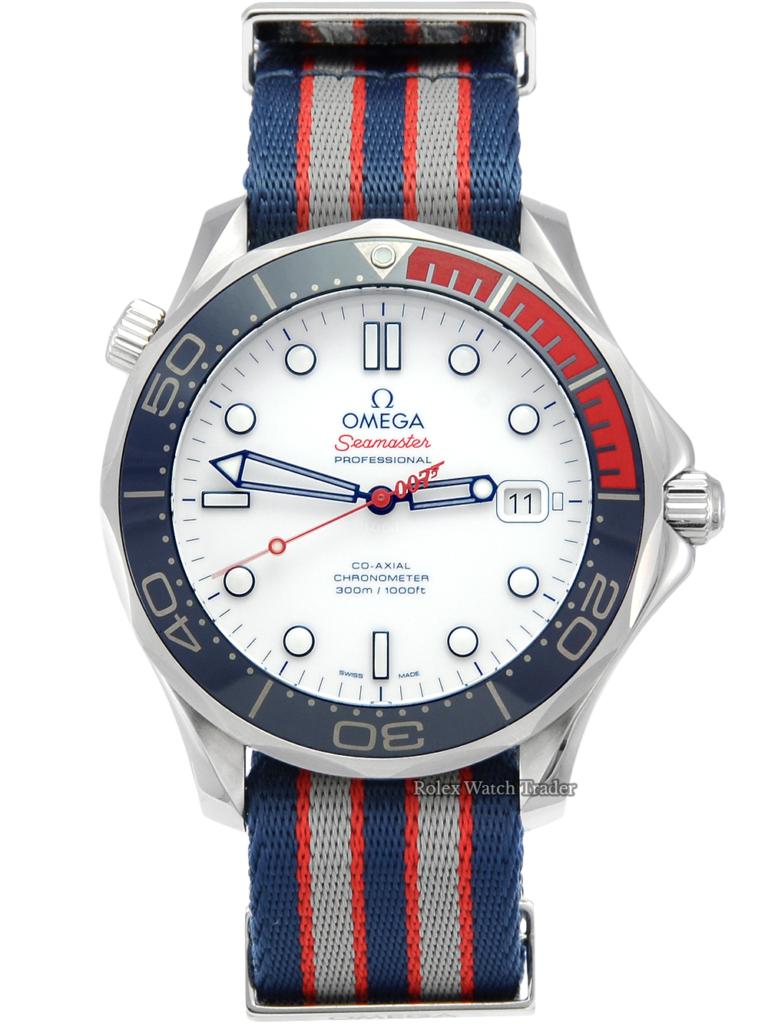 Omega Seamaster 300M NATO Strap + Bracelet 0110/7007 Commander's Watch 212.32.41.20.04.001