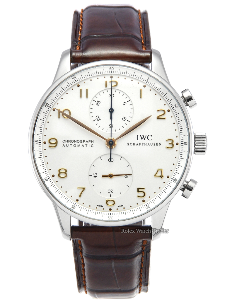 IWC Chronograph Portuguese IW371401 Dark Brown Alligator Leather Strap