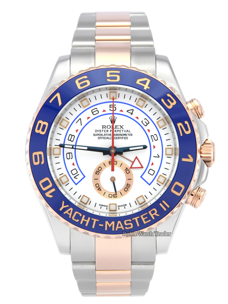 Pre-Owned Rolex Yacht-Master II 116681 44mm Bimetal Steel & Rose Gold For Sale