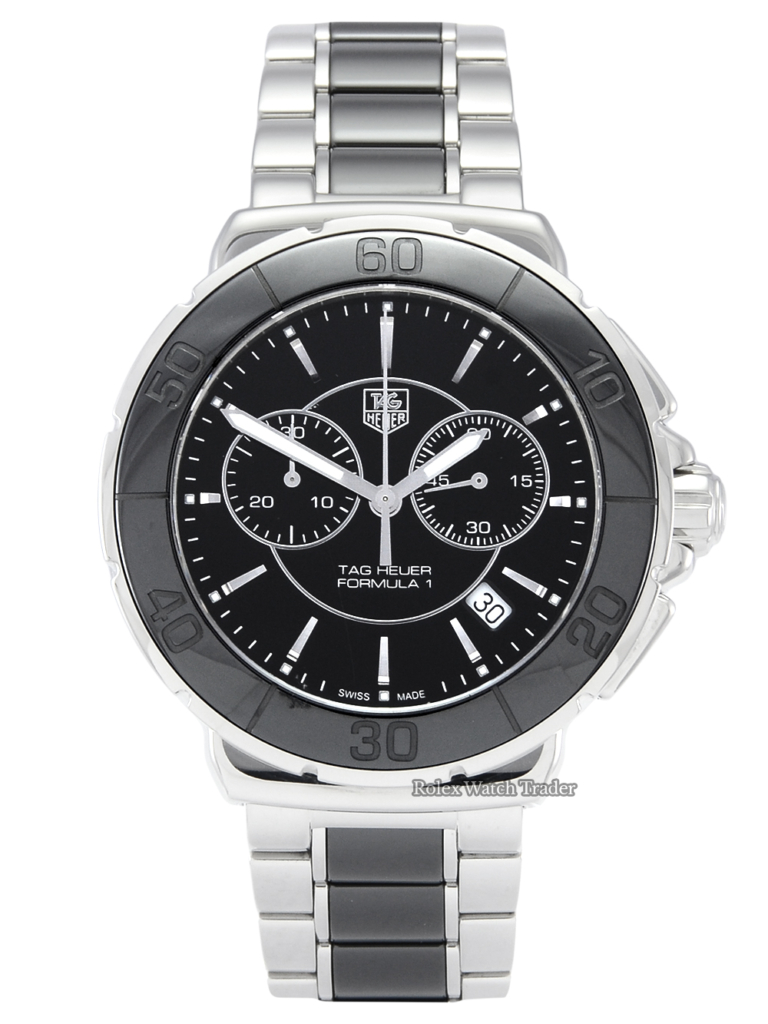 TAG Heuer Formula 1 CAH1210.BA0862 41mm Stainless Steel Ceramic Bezel For Sale Unisex Ladies' Women's Men's Watch Pre-Owned Second Hand Available Today