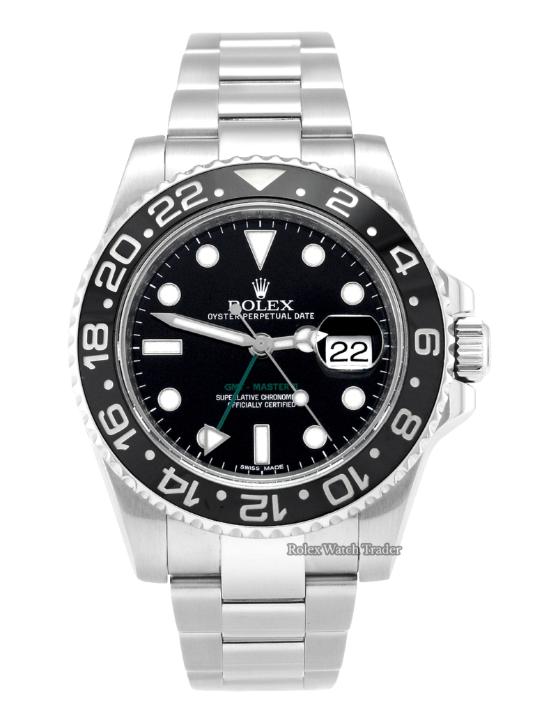 Rolex GMT-Master II 116710LN Stainless Steel Black Dial Box & Papers