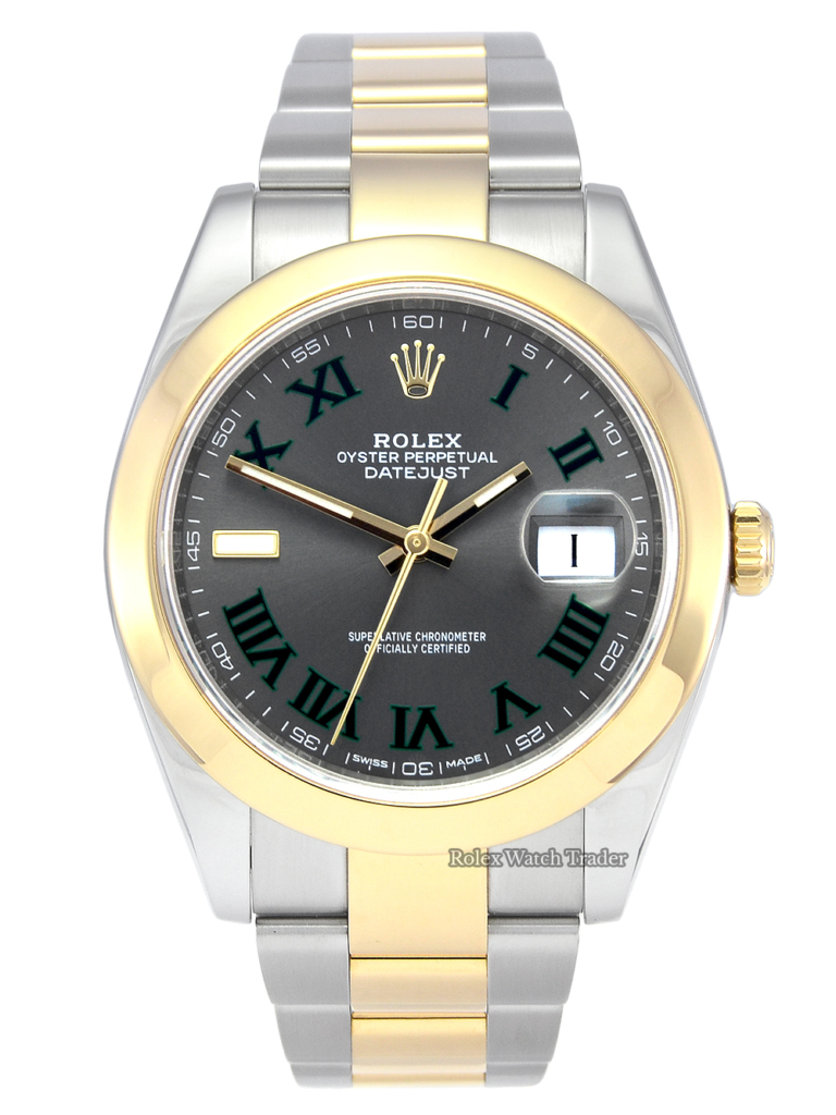 Rolex Datejust 126303 41mm Wimbledon Bi-Metal Yellow Gold Buy Second Hand Pre-Owned Used Manchester UK For Sale