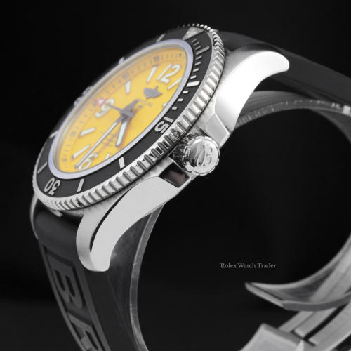 For Sale Pre-Owned Excellent Condition Breitling Superocean Automatic 44 A17367021I1S2 UK 2020 Box & Papers Yellow Dial