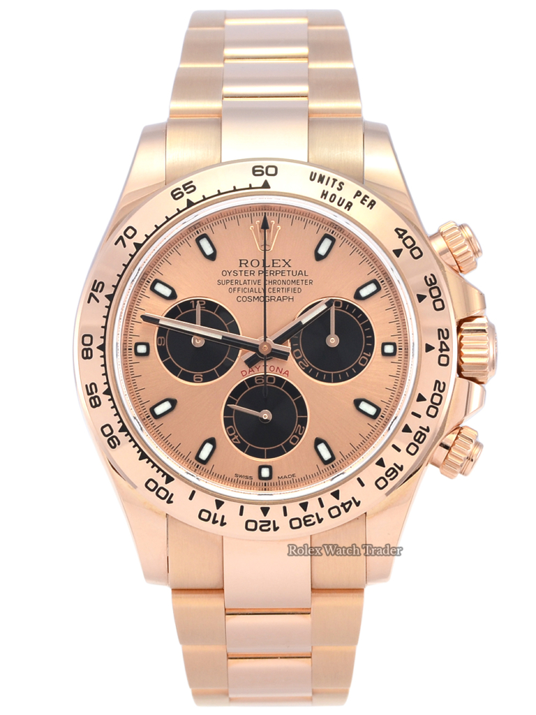 Rolex Daytona 116505 Rose Gold Rose Dial Second Hand Excellent Condition Box & Papers Available to Buy Today
