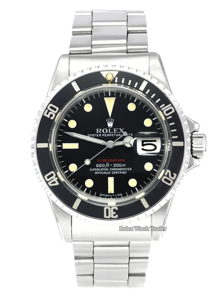 Rolex Submariner Date 1680 Red Writing Mark V Serviced by Rolex Unworn with Stickers MKV For Sale Pre-Owned Mint Condition