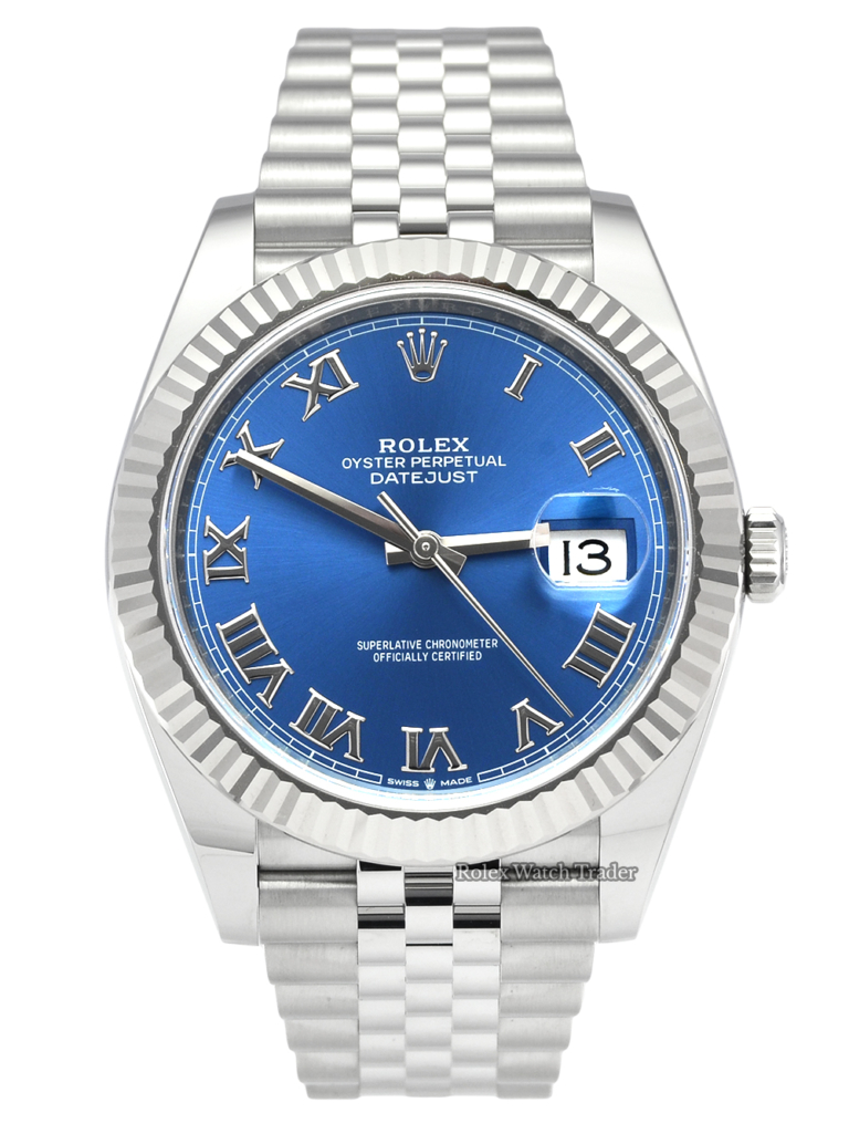 Rolex Datejust 126334 New Style Card Blue Roman Numeral Dial