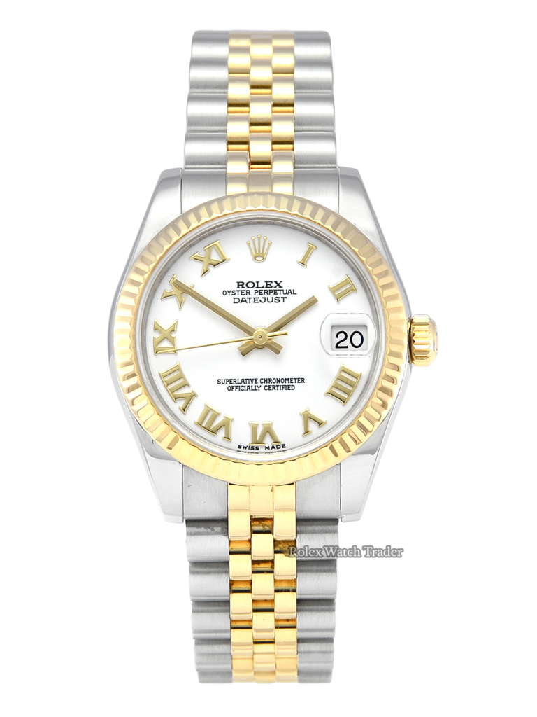 Rolex Datejust 31 178273 Mid Size White Roman Numeral Dial Lady-Datejust 178273