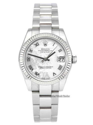 Rolex Datejust 31mm Lady-Datejust 178274 White Mother of Pearl MOP Dial Diamond VI Women's Ladies' Watch For Sale in Manchester North West UK Online
