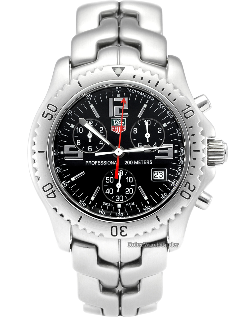 TAG Heuer Link Quartz Chronograph CT1111 Box & Papers Excellent Condition Pre-Owned Second Hand