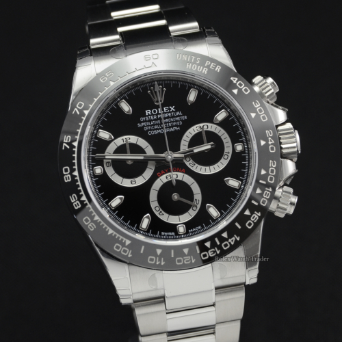Rolex Daytona 116500LN Unworn All Stickers Black Dial Ceramic Brand New For Sale Box & Papers February 2020 Stainless Steel
