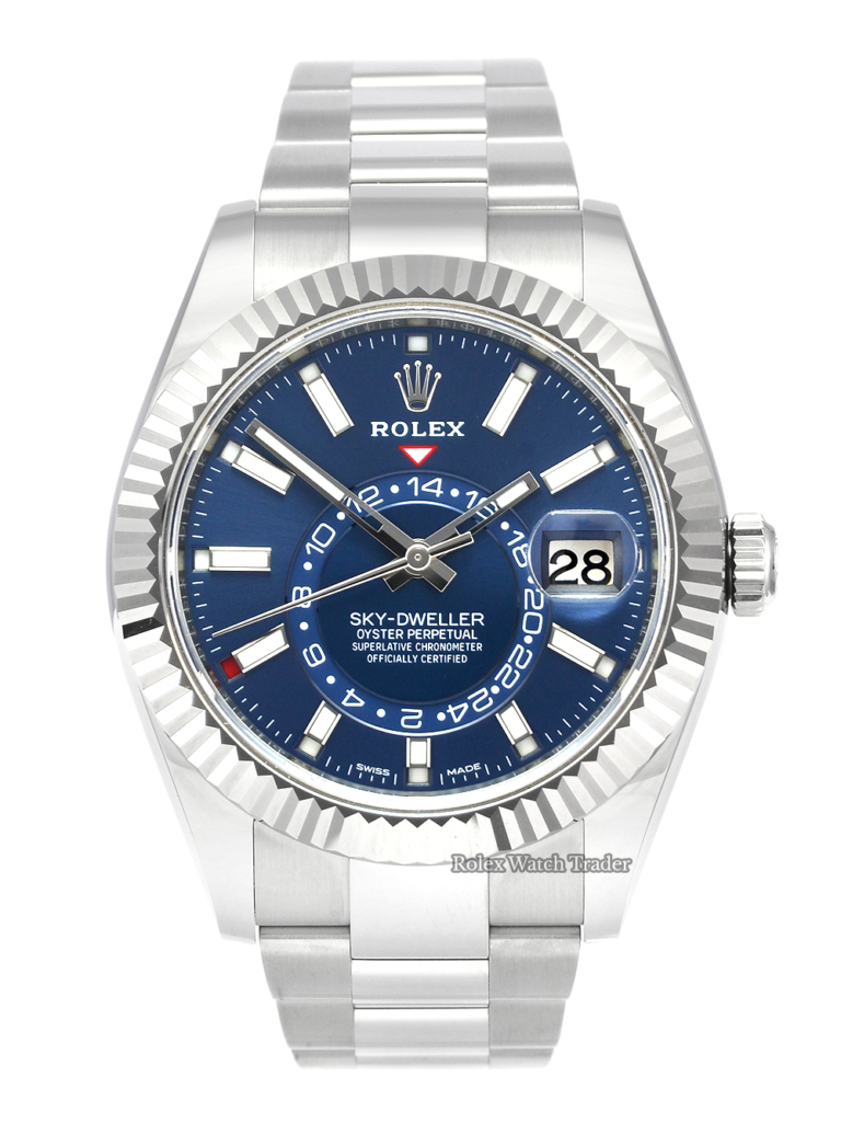 Rolex Sky-Dweller 326934 Blue Dial 2020 August New Style Card For Sale Available Instantly