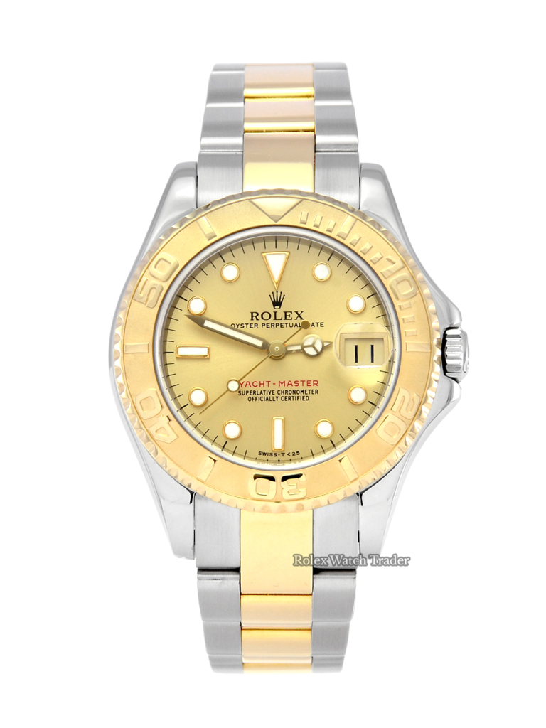 Rolex Yacht-Master 68623 BOX & PAPERS Bi-Metal Stunning Champagne Dial 35mm