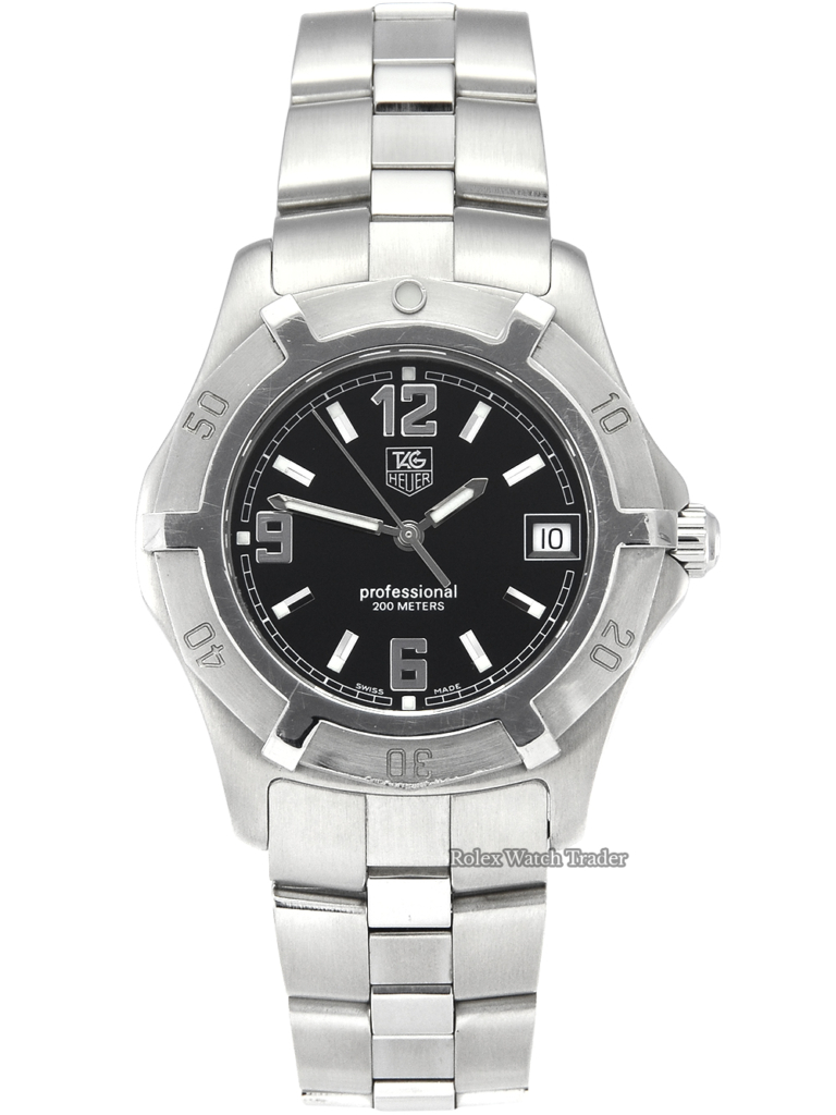 TAG Heuer 2000 Exclusive WN1110.BA0332 Steel & Black 38mm Pre-Owned Used Second Hand For Sale UK Manchester North West