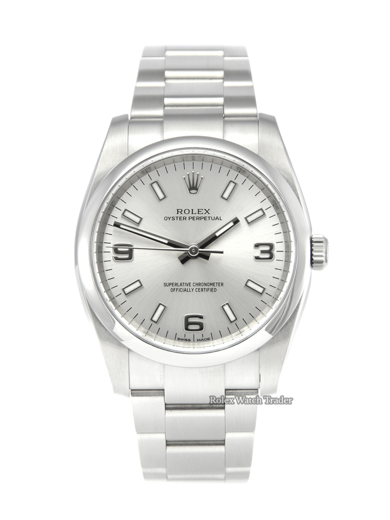 Rolex Oyster Perpetual 114200 34mm Silver Dial For Sale Pre-Owned Second Hand Used Available to Purchase Buy Today Manchester UK North West Excellent Service