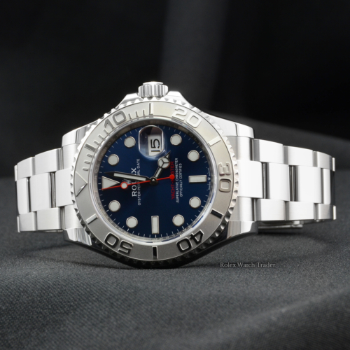 Rolex Yacht-Master 126622 40 Blue Dial 2020 Stainless Steel Platinum Bezel Buy Today with Rolex Watch Trader Available to Purchase with Next Day Delivery in Manchester North West UK England EU Part Exchange Available