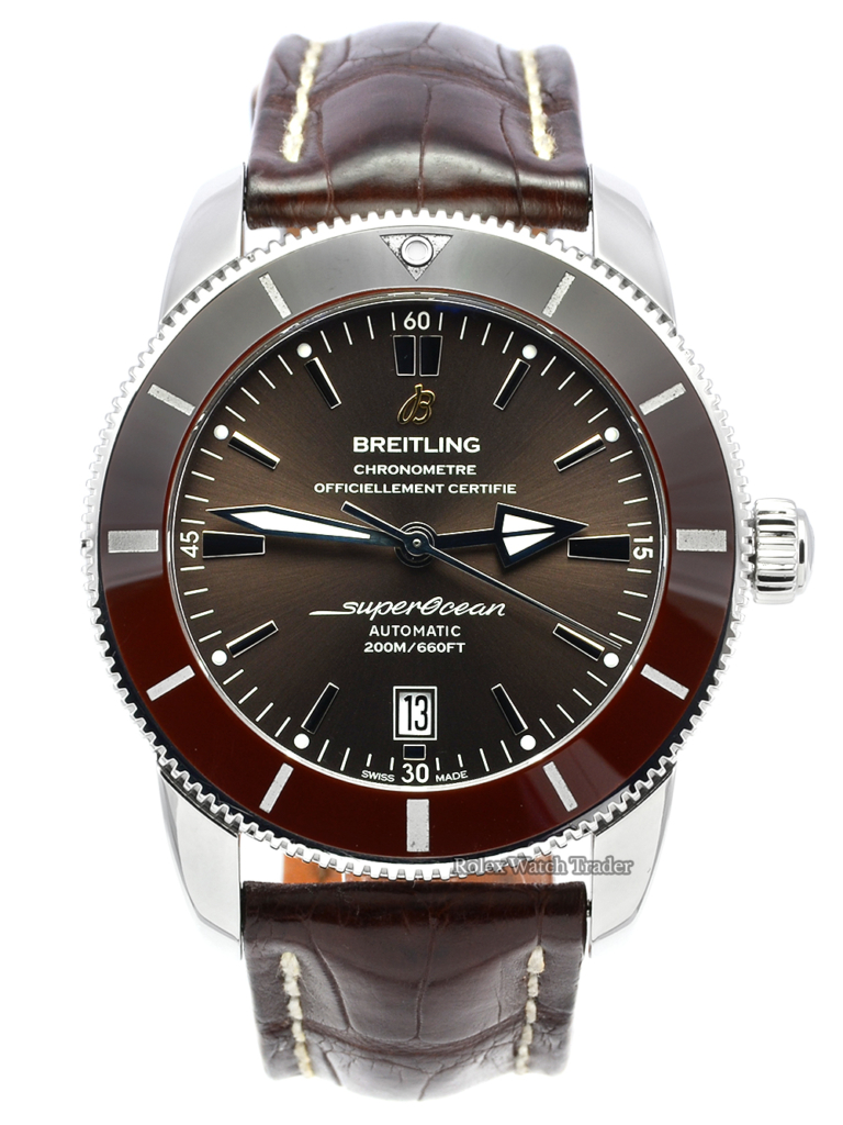 Breitling Superocean Héritage II 46 Bronze AB202033/Q618 Leather Strap Pre-Owned Used Second Hand For Sale Available Purchase Online with Part Exchange or Direct Sale Manchester North West England UK Great Britain Buy Today