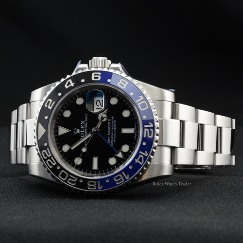 Rolex GMT-Master II 116710BLNR SERVICED BY ROLEX Batman Unworn Pre-Owned Second Hand Used For Sale Available Purchase Online with Part Exchange or Direct Sale Manchester North West England UK Great Britain Buy Today
