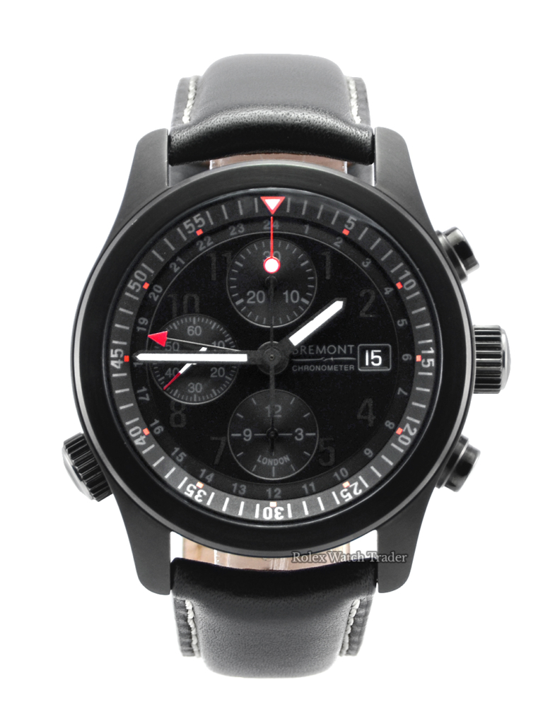 Bremont ALT1-B (GMT) Chronograph Aviator Range Black Dial 2018 UK Black Stealth DLC Coated Men's Watch Available To Purchase For Sale Next Day Delivery 1 Year Warranty Manchester UK North West England