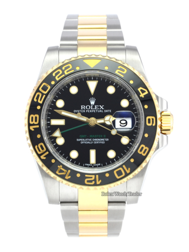 Rolex GMT-Master II 116713LN Bimetal Black Dial UK 2016 For Sale Available Purchase Online with Part Exchange or Direct Sale Manchester North West England UK Great Britain Buy Today Pre-Owned Excellent Condition Box & Papers