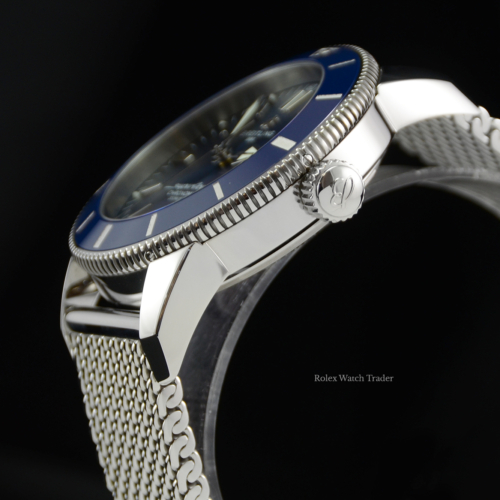 Breitling Superocean Heritage II 44 B20 AB2030161C1A1 Blue Pre-Owned Used Second Hand For Sale Available Purchase Online with Part Exchange or Direct Sale Manchester North West England UK Great Britain Buy Today
