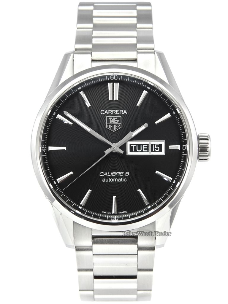 TAG Heuer Carrera Calibre 5 WAR201A-1 Box & Papers 2019 41mm Stainless Steel Pre-Owned Second Hand Used For Sale Available Purchase Online with Part Exchange or Direct Sale Manchester North West England UK Great Britain Buy Today