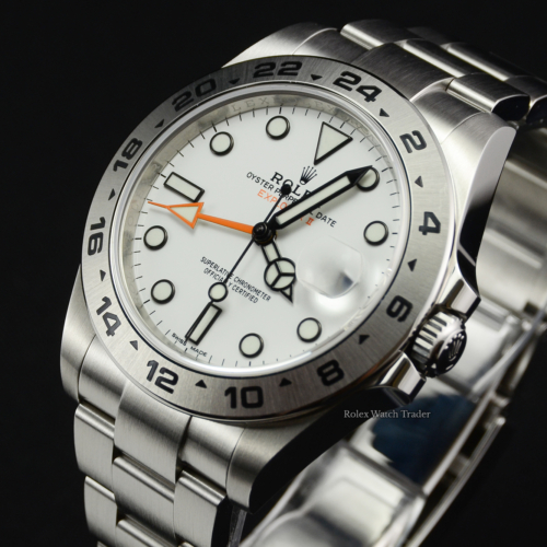 Rolex Explorer II 216570 White 'Polar' Dial 2019 UK Pre-Owned Second Hand Used Pre-Loved For Sale Available Purchase Online with Part Exchange or Direct Sale Manchester North West England UK Great Britain Buy Today