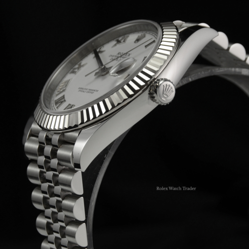 Rolex Datejust 126334 White Roman Numeral Dial 2020 UK Complete Set Pre-Owned Used Second Hand For Sale Available Purchase Online with Part Exchange or Direct Sale Manchester North West England UK Great Britain Buy Today
