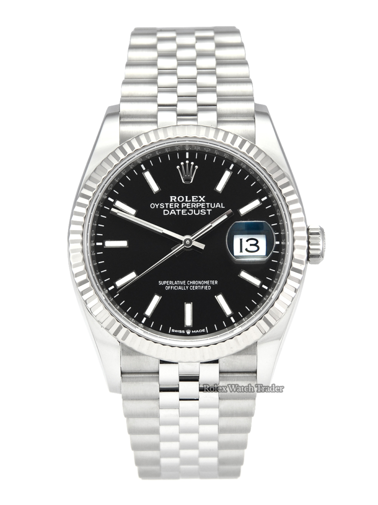 Rolex Datejust 126234 Black Dial 2020 UK Full Set with Stickers For Sale Available Purchase Buy Online with Part Exchange or Direct Sale Manchester North West England UK Great Britain Buy Today Free Next Day Delivery Warranty